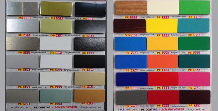 bảng màu alu triều chen trong nhà
