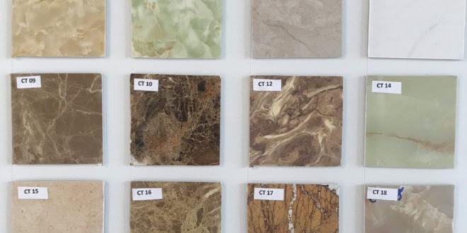 bảng màu tấm ốp pvc vân đá màu cẩm thạch